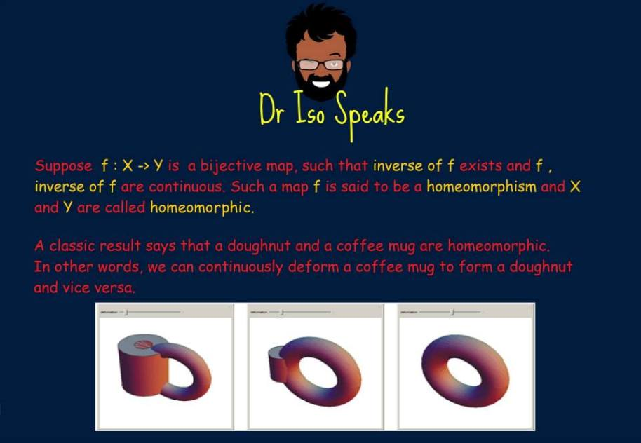 Dr. Iso speaks about coffee mugs and doughnuts!